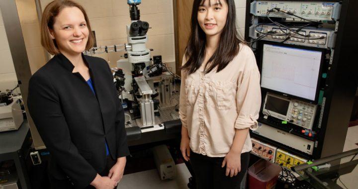 Professor Catherine Christian and Jiang Li