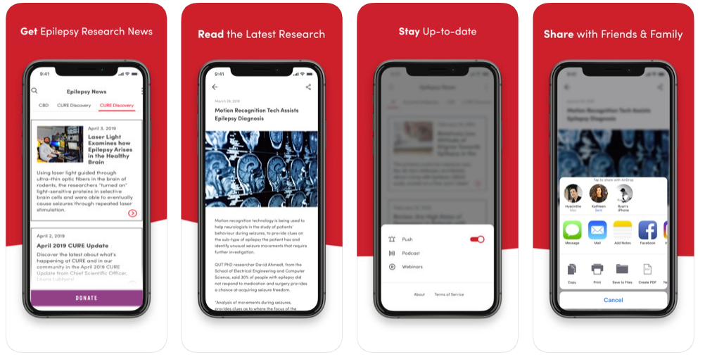 CURE Epilepsy Research Mobile App