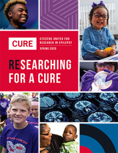 Cover of the Spring 2020 CURE Report, featuring a colorful grid of CURE community members.